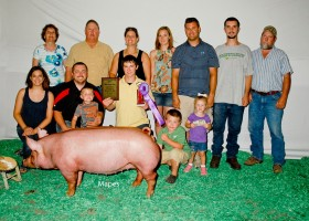 Grand Champion Junior Show Gilt, Jason Geer
