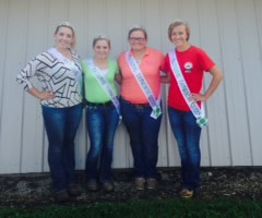 2014 Tamworth Queens: Elizabeth Rake, Samantha Pigg, Courtney Gulick, Kaitlyn Tricker